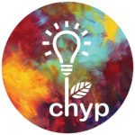 logo of CHYP showing a light bulb growing as a plant in front of a colorful background